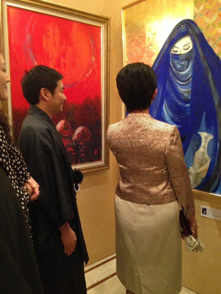 現代アーティスト 新井文月 高円宮殿下と