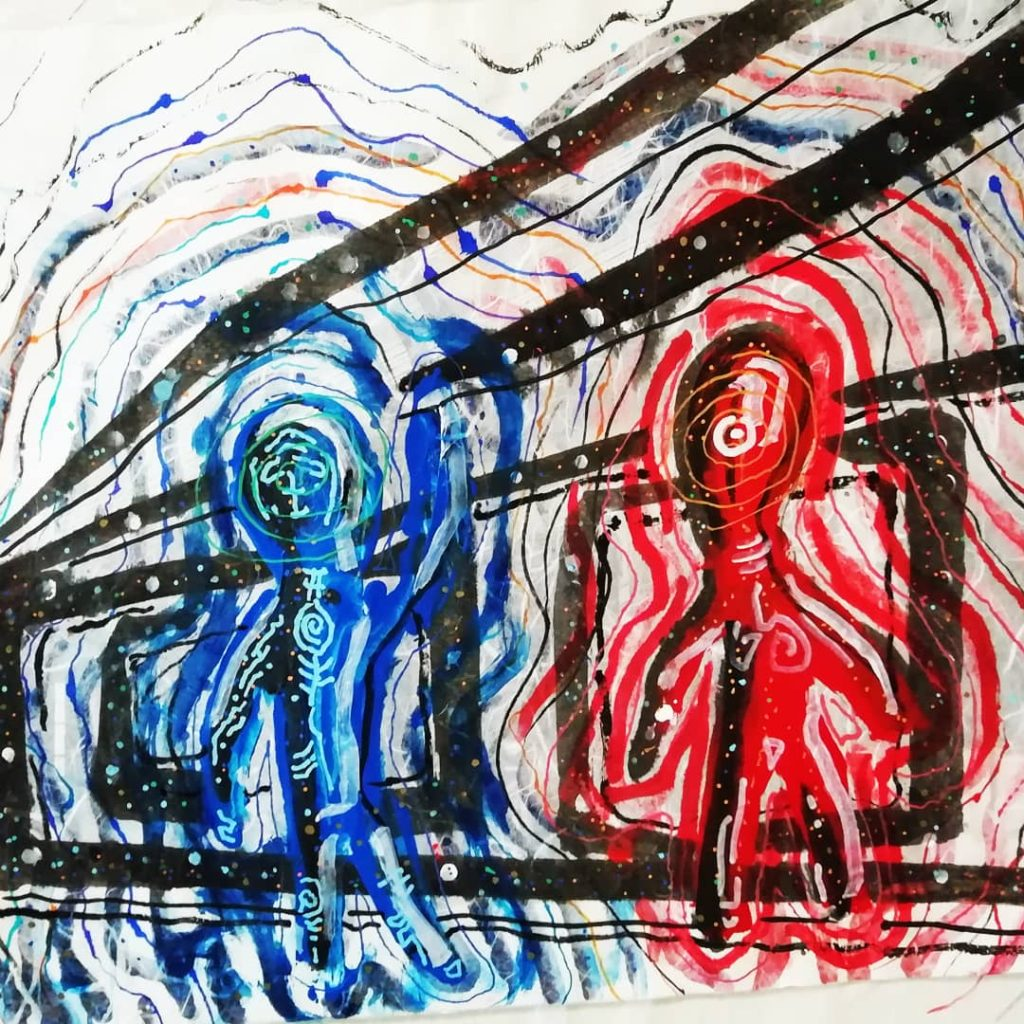 青い人間、赤い人間の住む屋敷