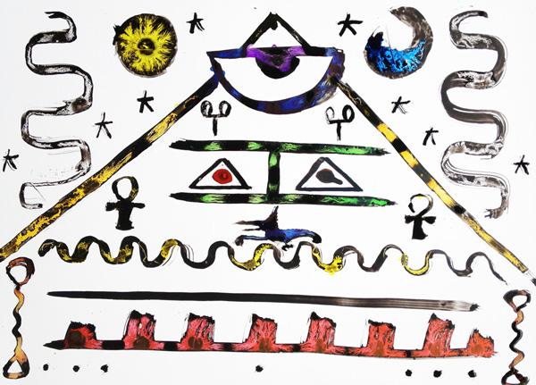 新井文月のピラミッド絵画